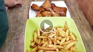 Ето как да си направим хрупкави картофи и пиле без пържене с помоща на Еър Фрайър